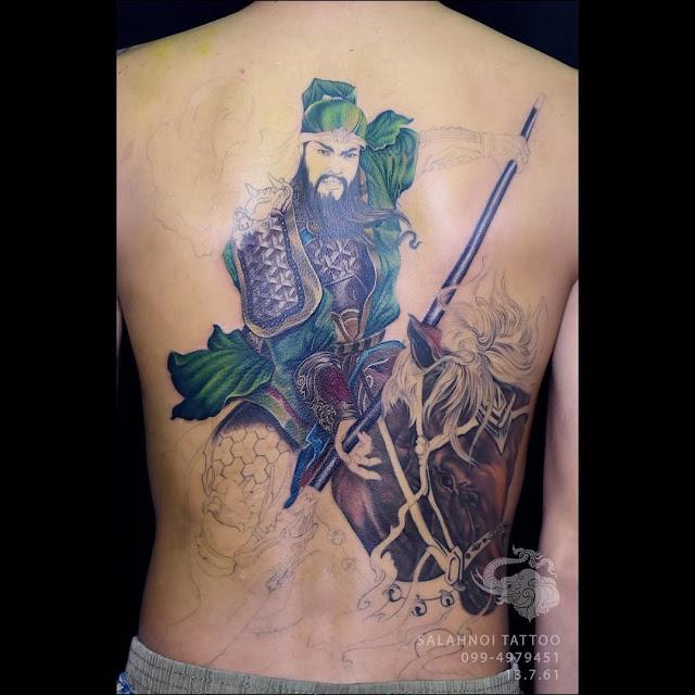 ลายสักกวนกง ฝีมือคนไทย Salahnoi Tattoo
