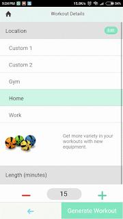Workout Details