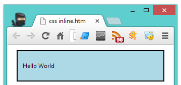 Using CSS in HTML