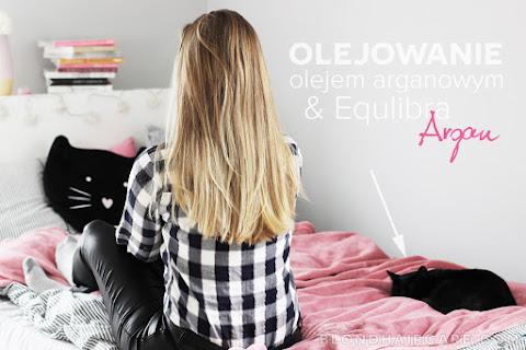 Olejowanie włosów olejem arganowym i arganowa seria do włosów Equilibra - czytaj dalej »