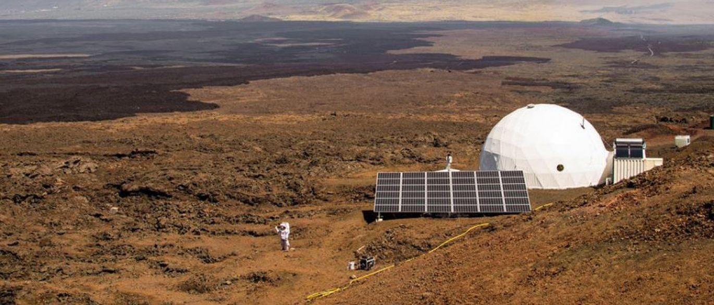 Simulação no Vulcão Mauna no Havaí