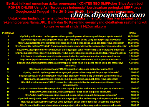 Ilustrasi Pemenang Kontes SEO SMPPoker- Chips