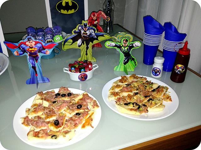Decoração Festa da Liga da Justiça - Super Heróis : Pizza
