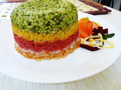 ribbon rice rainbow rice rice recipes yummy special recipes kerala rice