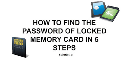 How to Unlock password protected Micro SD or Memory Card