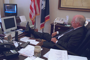 Dick Cheney in his office at 9:30 a.m. on September 11