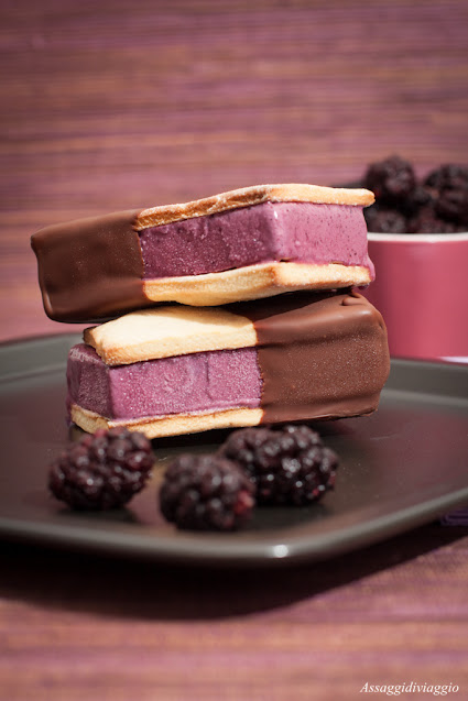 Biscotto gelato ai gelsi del Vesuvio