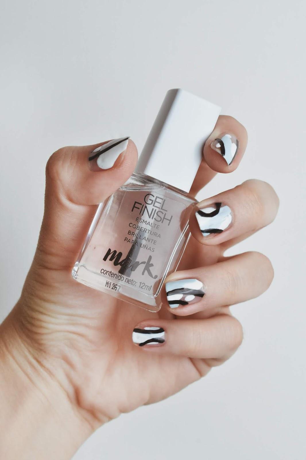simple nail art esmalte sencillo decoracion de uñas facil rapida quick styles nails 4
