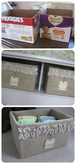 Muebles y organizadores hechos con cartón reciclado