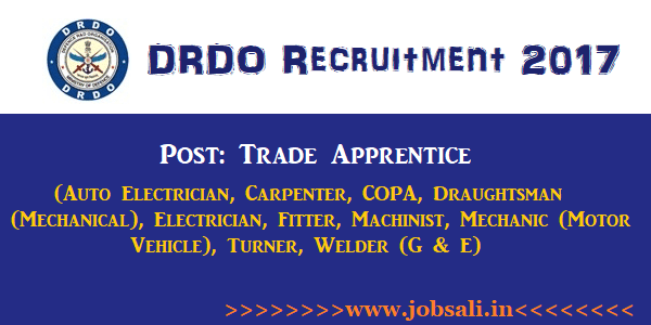 DRDO Apprentice Vacancy, DRDO Vacancy, ITI Jobs in Chennai