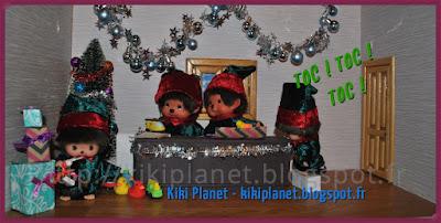 Les Monchhichi fêtent Noël, père Noël, kiki, kiki le vrai, santa claus, cadeaux, réveillon, bebichhichi