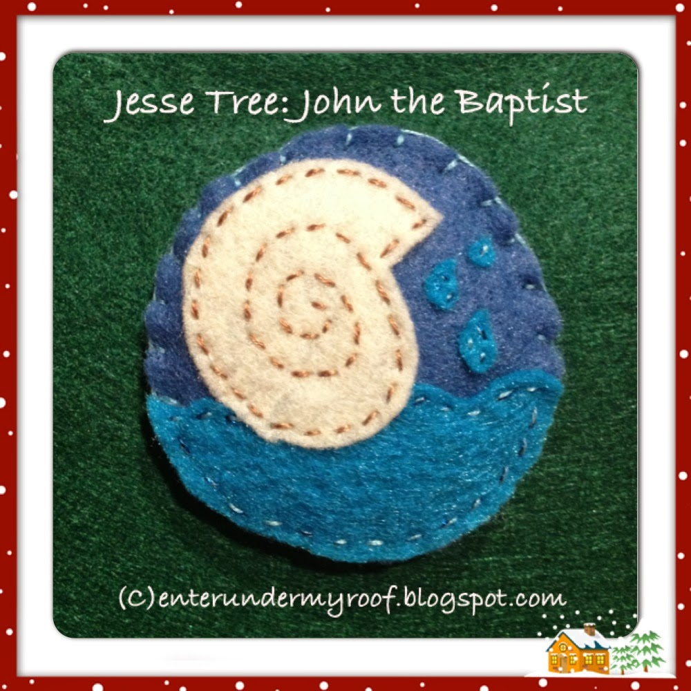 Jesse Tree Ornaments John The Baptist Baptismal Shell