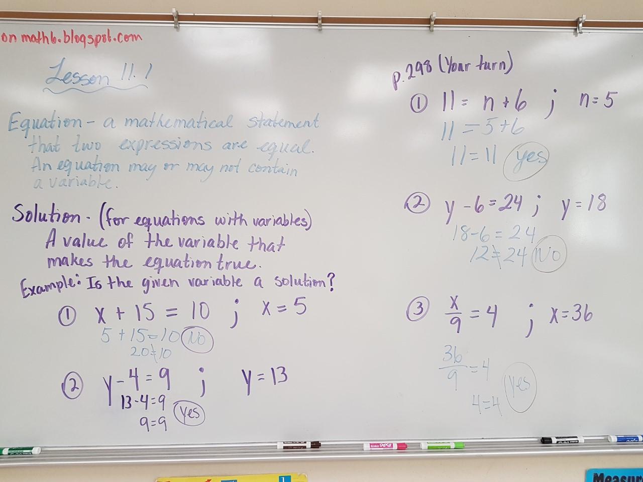 Algebraic Expressions Class 7