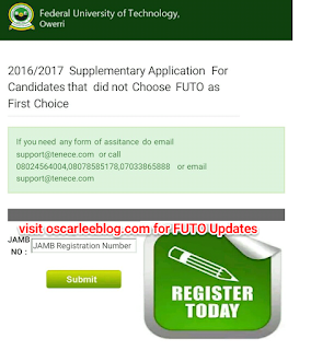 How to apply futo without putting as First Choice in jamb