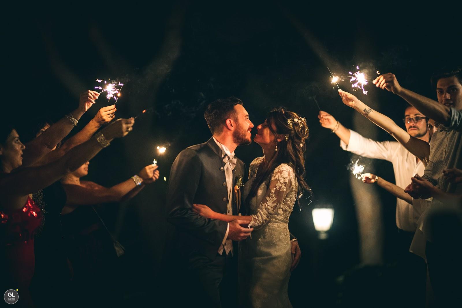Ballo degli sposi con stelline scintillanti
