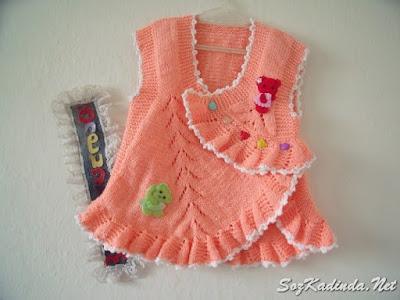 yazlık kız bebek yelek modelleri