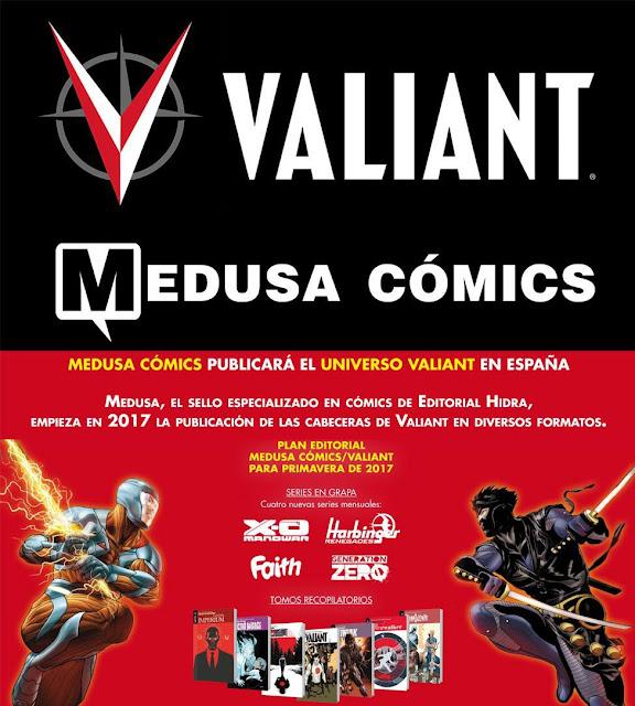 El Universo Valiant regresará con Medusa Comics esta primavera.