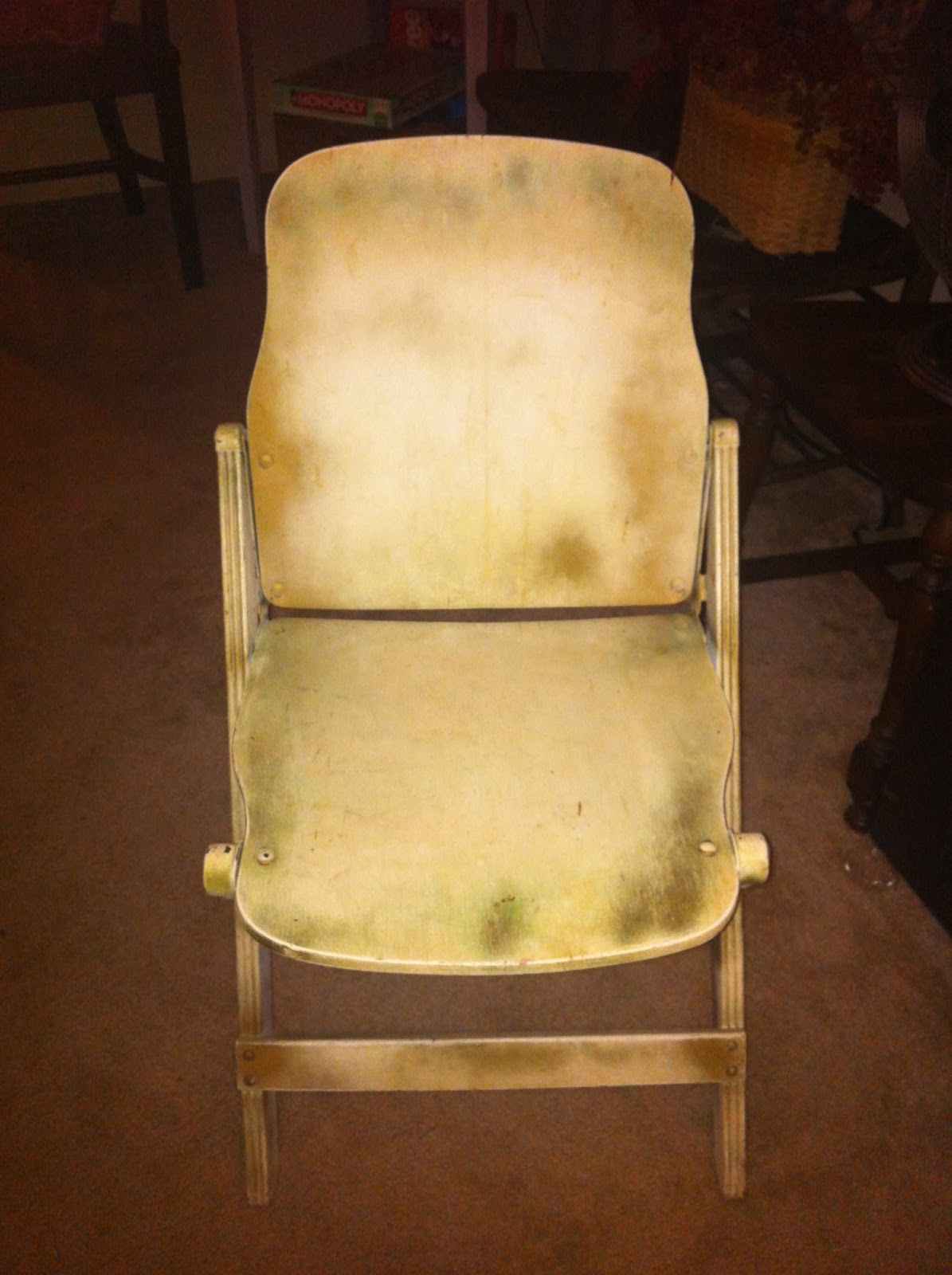 job lot folding chairs black windsor vintage bird antique wooden chair re do