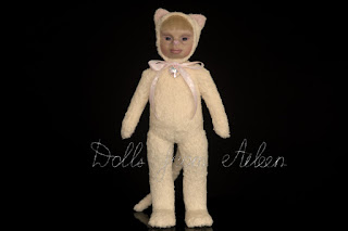 ooak artist teddy cat doll