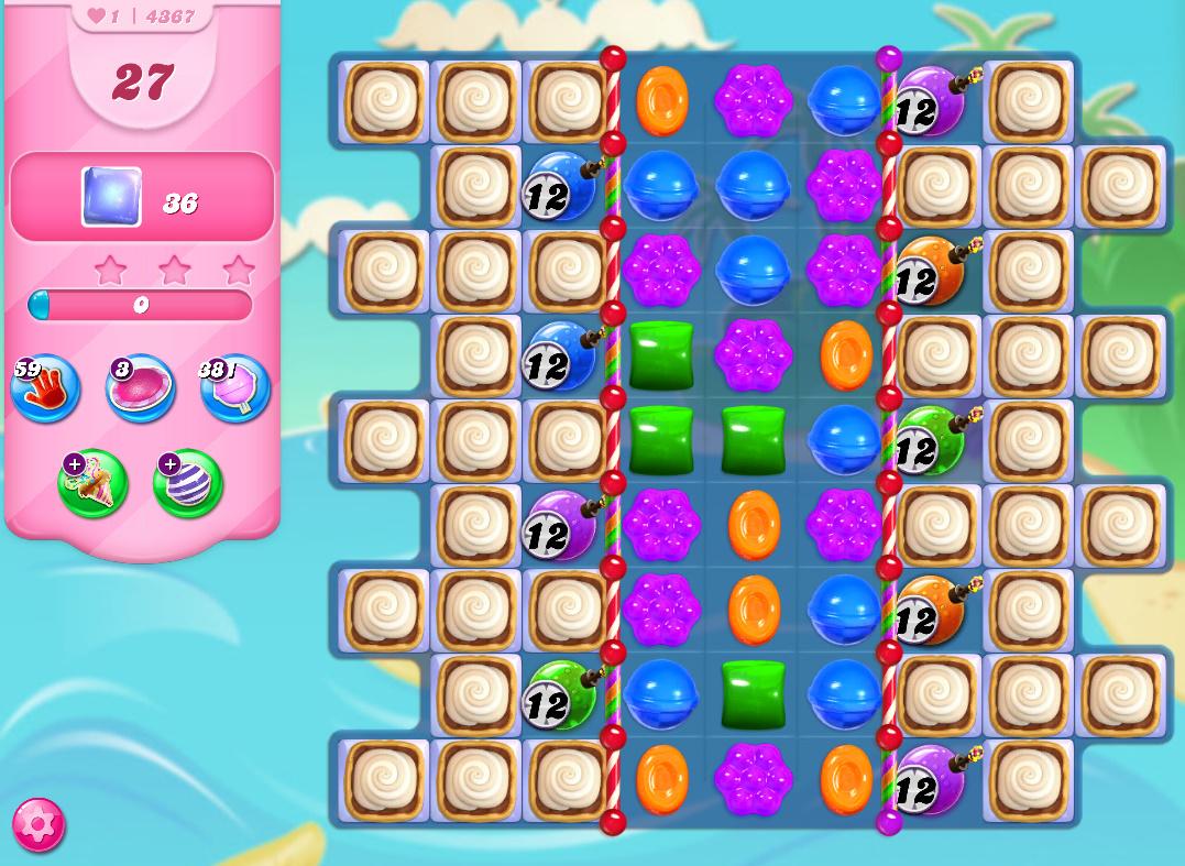 Candy Crush Saga level 4367