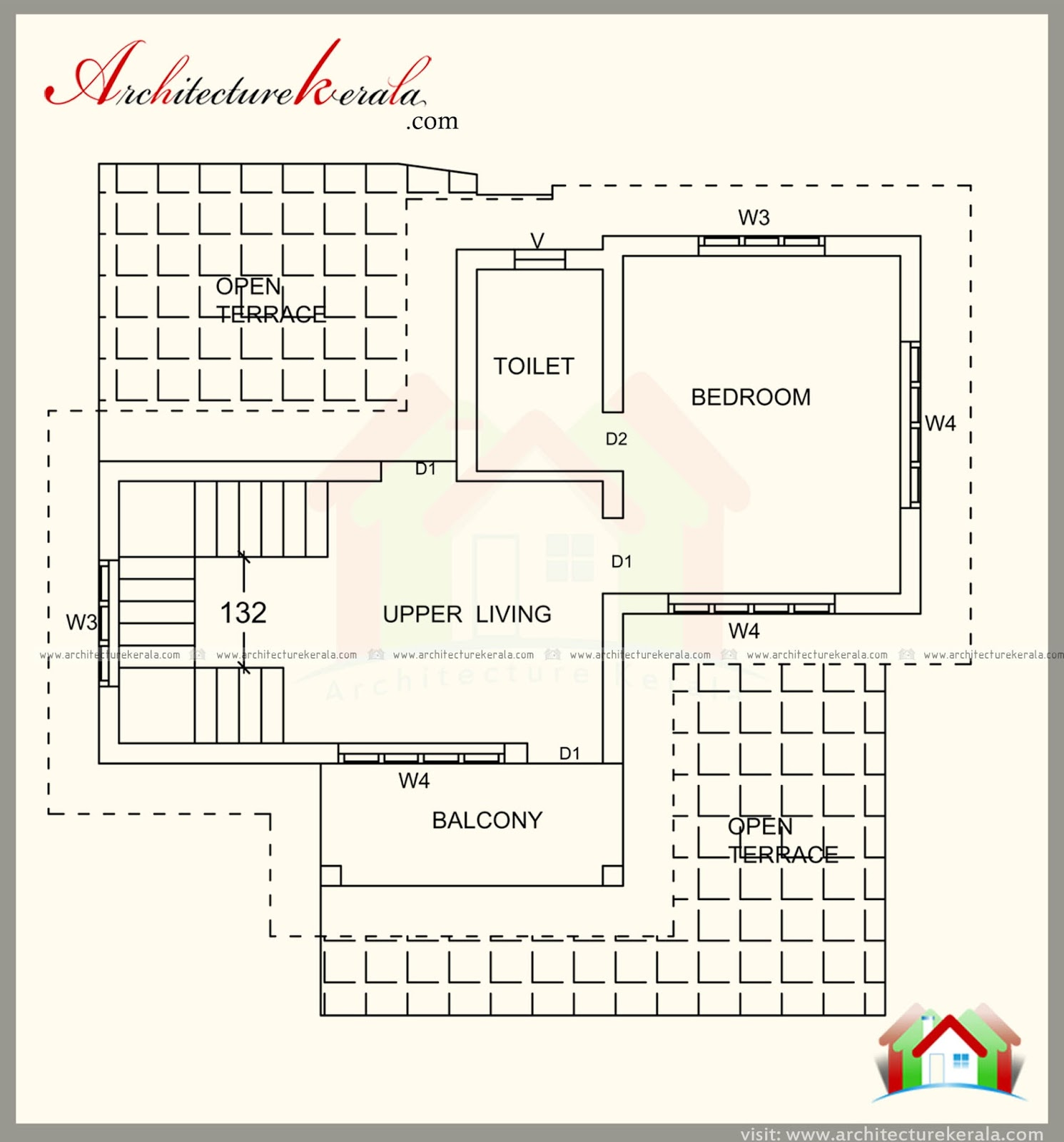 1500 Square Feet House Plan And Contemporary Style
