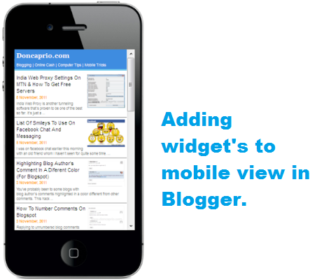 How to show a widget in mobile view in blogger | 101Helper