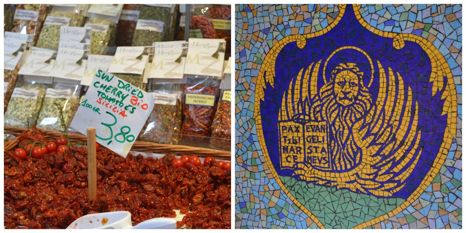 Rialto market. Venetian-mosaic tile.