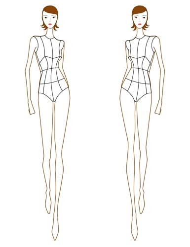 How to fashion croquis for Fashion designer drawing template