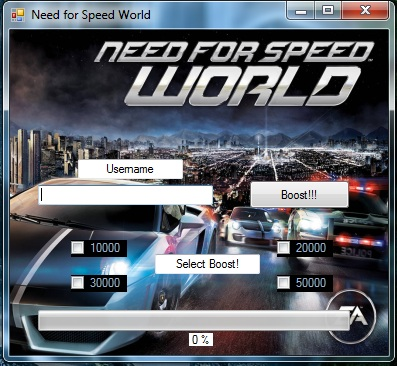 NEED FOR SPEED WORLD BOOST POINT HACK V3 0(2013) | new hack