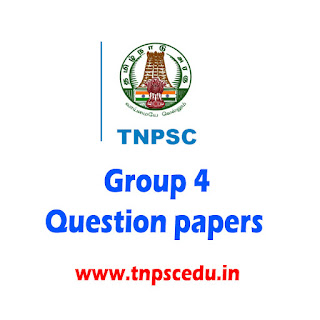 Tnpsc group 4 question paper with answers in Tamil pdf 2017