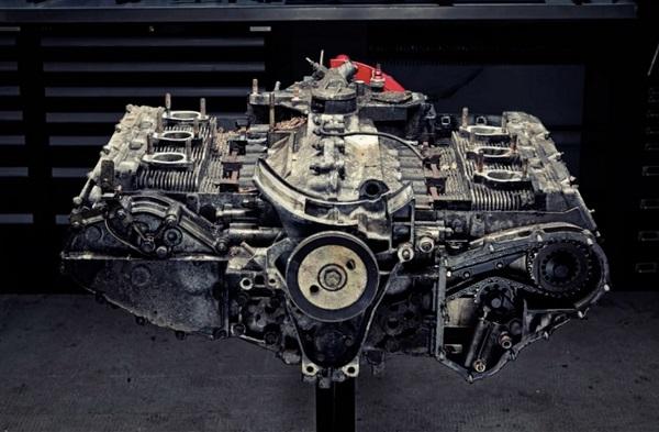 motor del Porsche 911 Carrera
