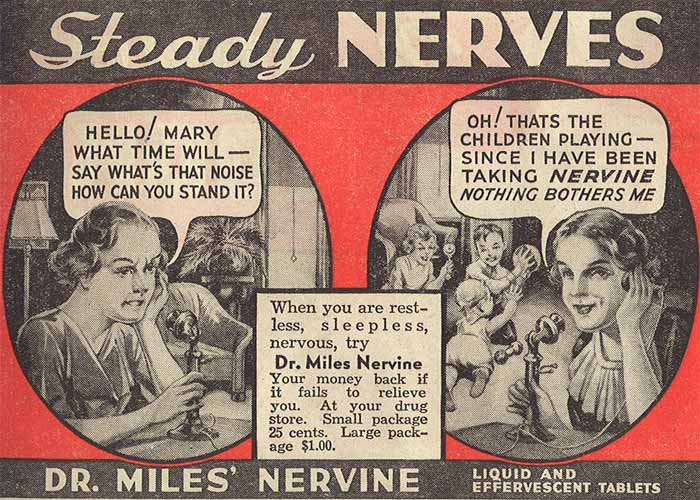 MedFriendly Medical Blog: Nervine: A Vintage Medication