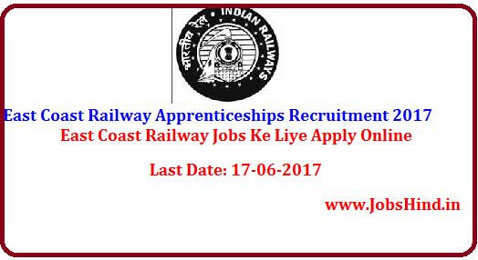 East Coast Railway Apprenticeships Recruitment 2017