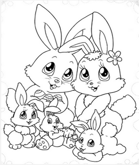150 Desenhos De Coelhos Para Pintar Colorir