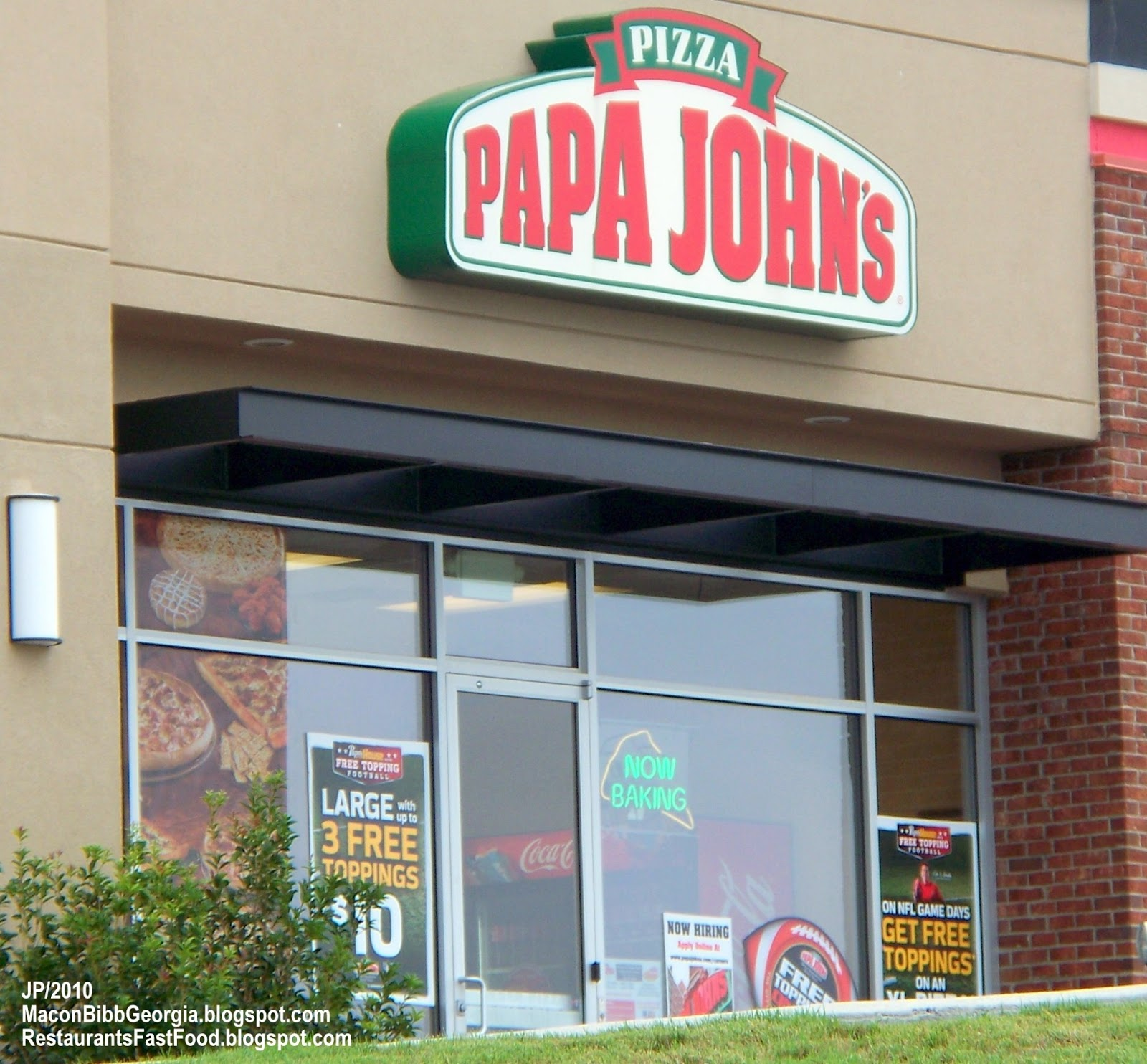 Papa John S Pizza Macon Georgia Billy Williamson Drive Take Out Delivery Restaurant
