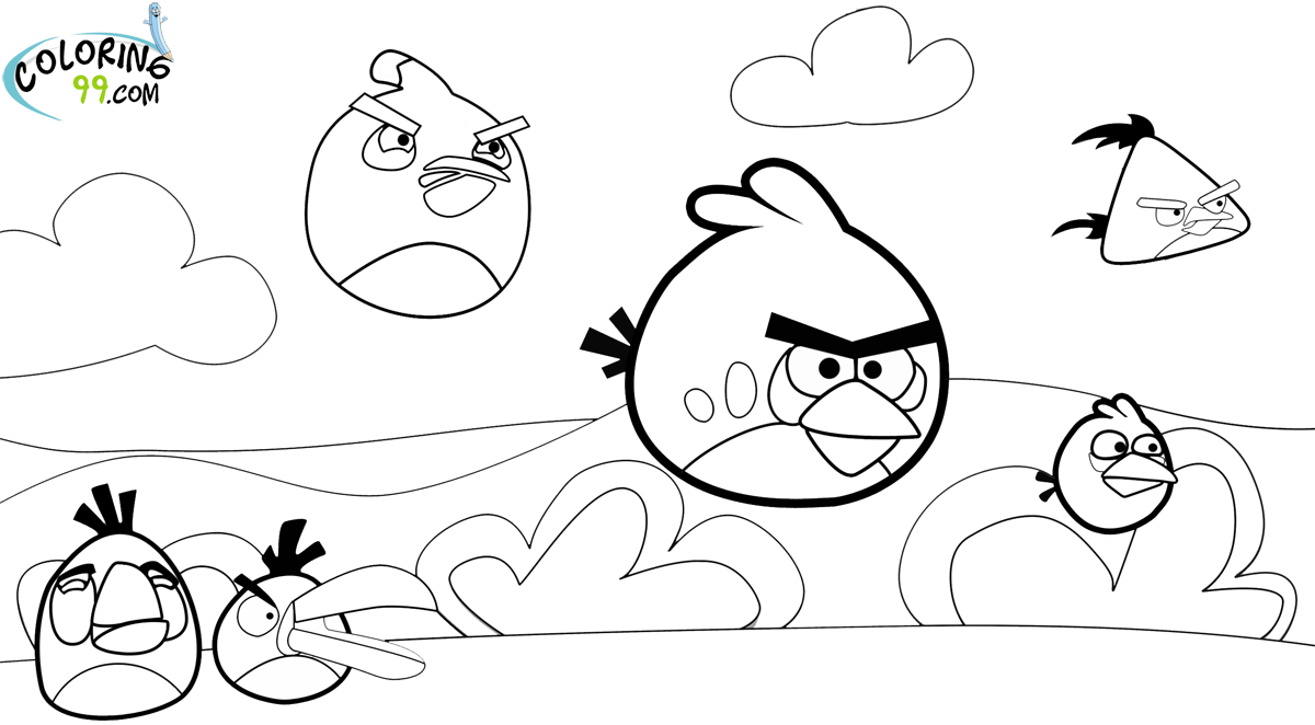 Angry Birds Season Coloring Pages | Team colors