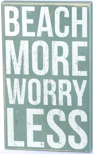 Beach Box Sign Quote