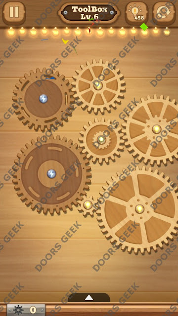 Fix it: Gear Puzzle [ToolBox] Level 6 Solution, Cheats, Walkthrough for Android, iPhone, iPad and iPod