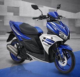 Yamaha Aerox 125 LC biru