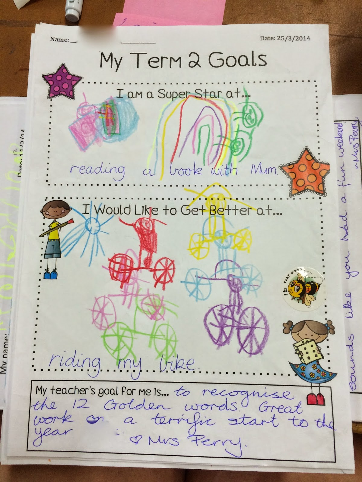 Stars And Wishes Goal Setting Worksheet Wednesday