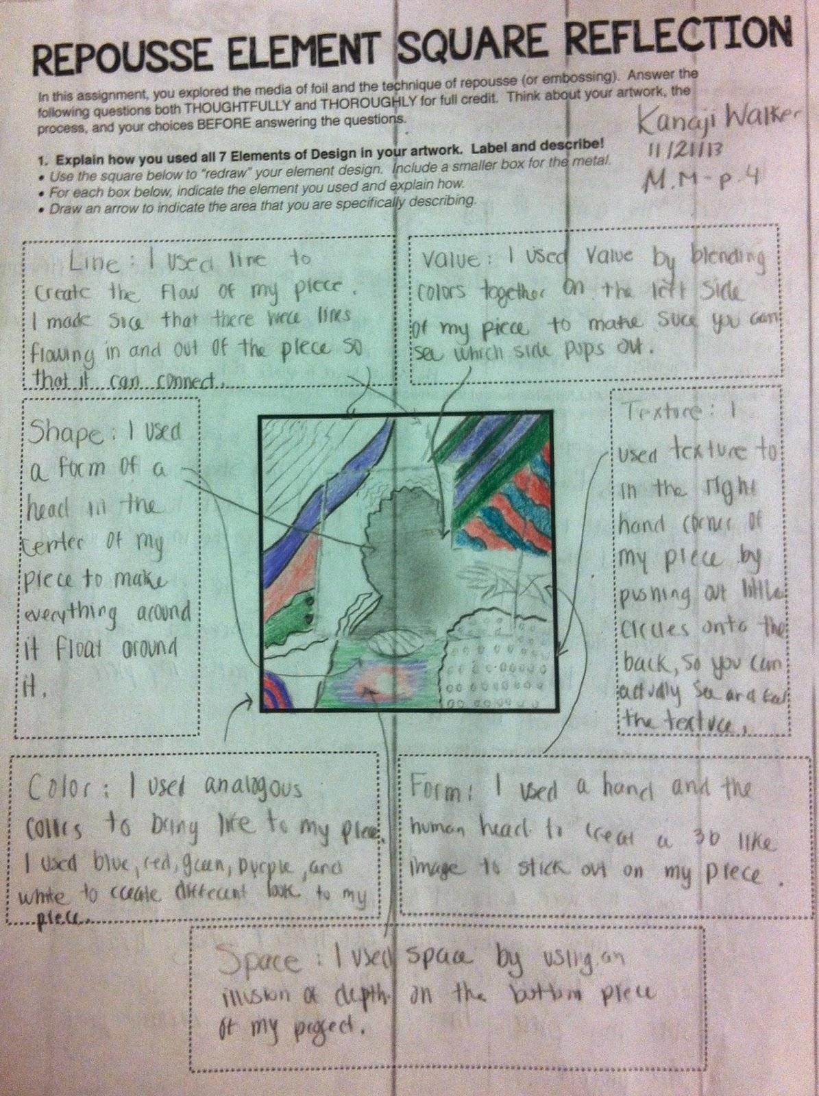 Project Art A Day Lesson Repousse Element Square