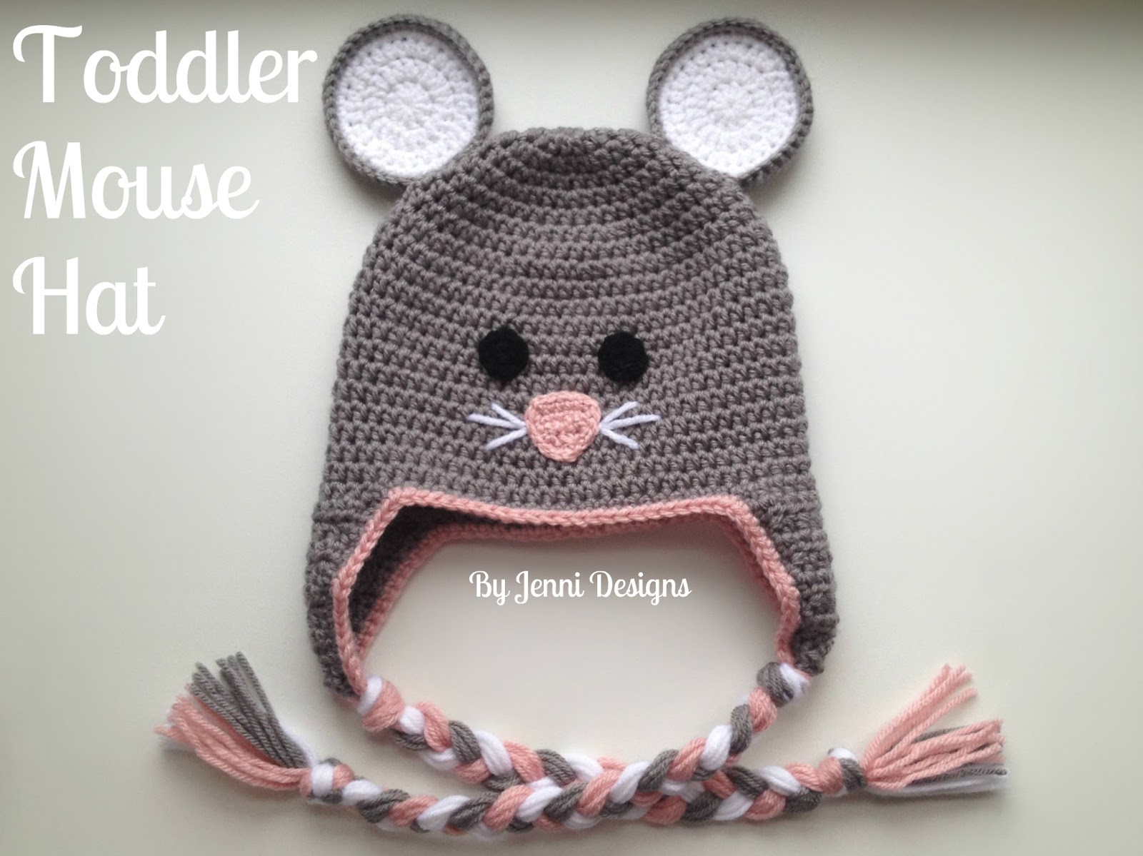 By Jenni Designs: Free Crochet Pattern: Toddler Mouse Hat