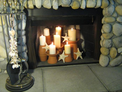 Sure fit slipcovers fireplace decorating ideas for the - Non working fireplace decor ...