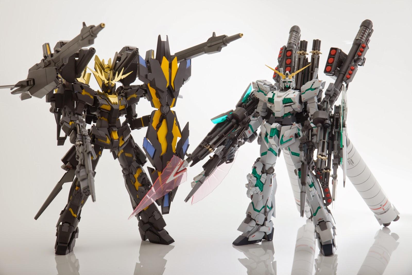 Custom Build Mg 1 100 Banshee Norn Defenser Unit A B Gundam