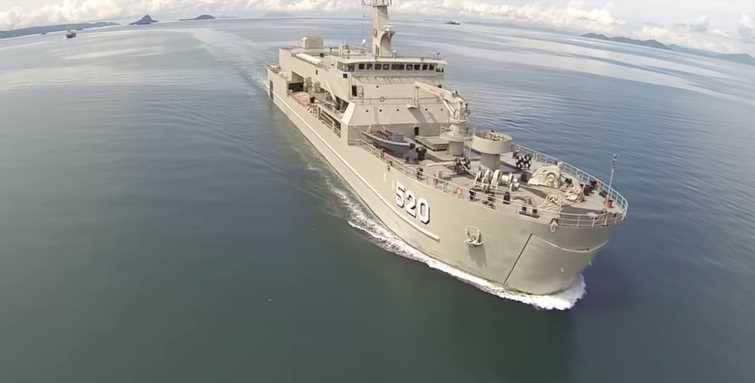 Gambar Kapal perang KRI Bintuni Indonesia