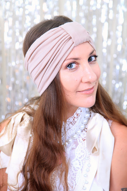 Turban Headband in Nude by Mademoiselle Mermaid