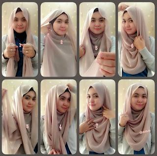 Tutorial Hijab Syari minimalis