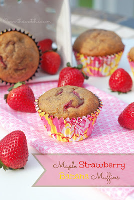 #maplesyrup, #strawberry, #banana, #muffins
