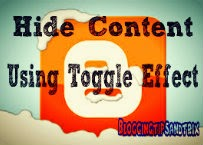 hide content through toggle effect