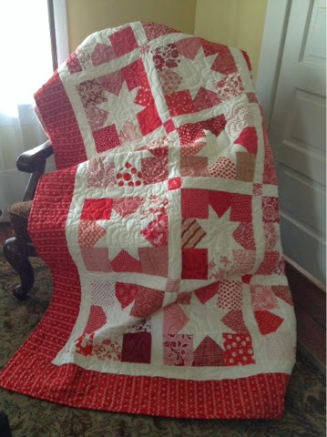 Charming Star Quilt made by Wendy of Snippets of a Quilter, The Tutorial by Stefanie Roman for Moda Bake Shop